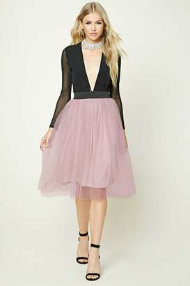 FOREVER 21+ Tulle Mesh Skirt $24.90 thestylecure.com