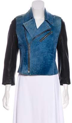 Alexander Wang Suede Leather-Paneled Jacket