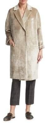 Brunello Cucinelli Velvet Cocoon Coat