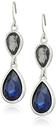 Kenneth Cole New York Dark and Black Teardrop Drop Earrings