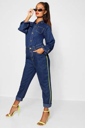 boohoo Yolanda Sport Stripe Skinny Boiler Suit