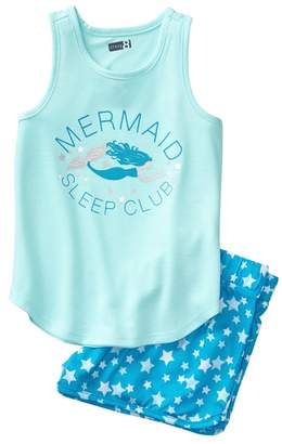 Crazy 8 Mermaid Shortie 2-Piece Pajama Set