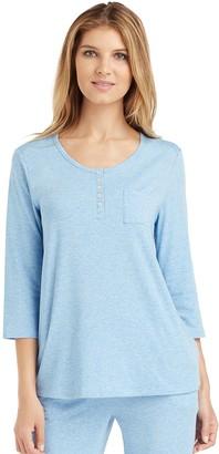 Cuddl Duds Women's Pajamas: Essential Henley Top