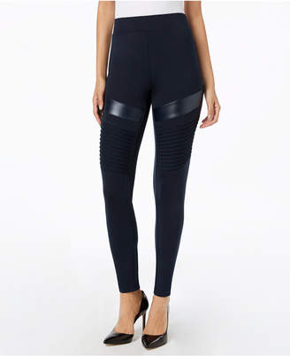 INC International Concepts I.n.c. Moto Comfort Smoothing Leggings, Created for Macy's