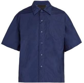 Prada Short Sleeved Shirt - Mens - Blue