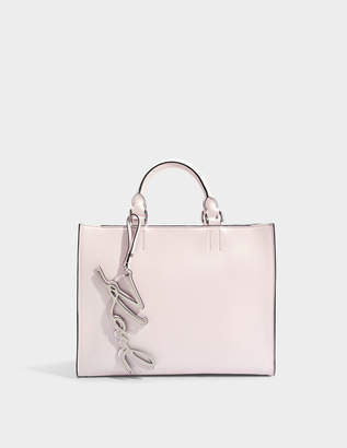 Karl Lagerfeld K/Signature Shopper Bag in Light Rose Smooth Calf Leather