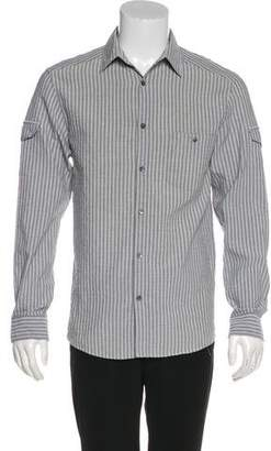 Louis Vuitton Striped Linen-Blend Utility Shirt
