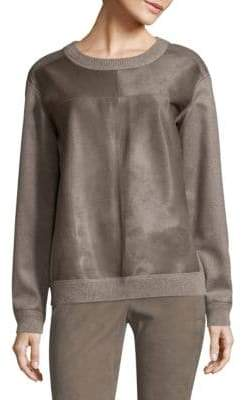 Lafayette 148 New York Iver Pullover Calf Hair & Cashmere Sweater