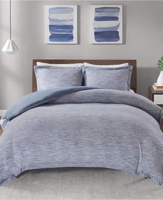 Jla Home Urban Habitat Space Dyed King/cal King 3 Piece Melange Cotton Jersey Knit Duvet Cover Set Bedding