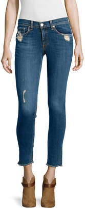 Rag & Bone Destroyed Dark Skinny Jeans, La Paz