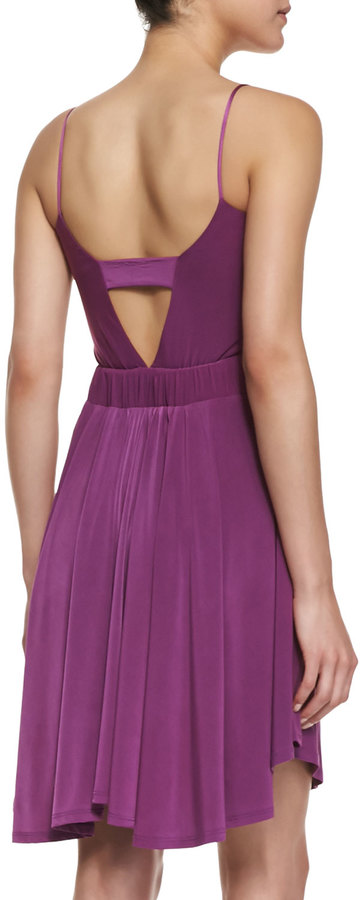 T-Bags T Bags Back-Cutout Gathered Dress, Magenta