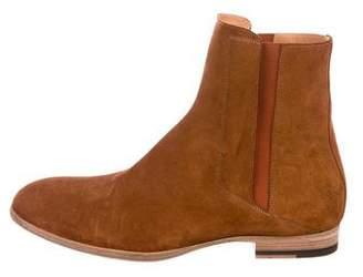 Maison Margiela Suede Round-Toe Boots