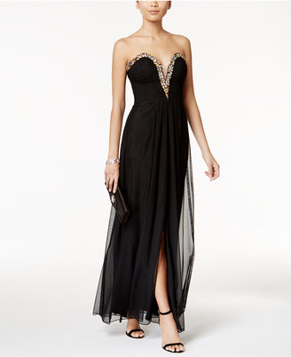 B & A by Betsy & Adam Strapless Embellished Gown $189 thestylecure.com