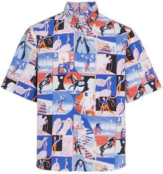 Prada Comic rope print shirt