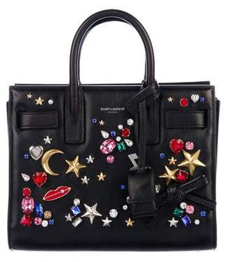 Saint Laurent 2016 Crystal-Embellished Nano Sac de Jour