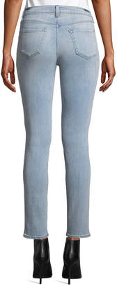 J Brand Jeans 811 Mid-Rise Ripped Faded Skinny Jeans, Blue