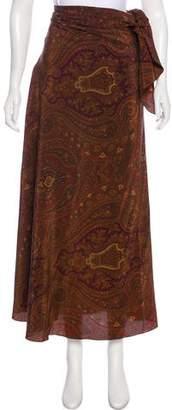 Donna Karan Silk Midi Skirt