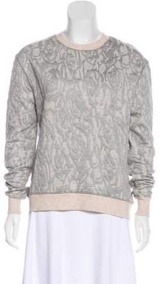 Halston Crew Neck Long Sleeve Sweater