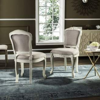 """Safavieh Burgess 37"""" High French Brasserie Side Chair, Set of 2, Taupe/Antique Beige"""