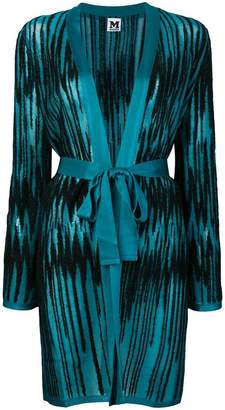 M Missoni lurex zigzag belted cardigan