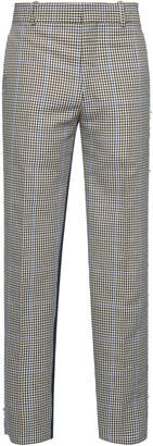 Alexander McQueen Checked Wool-Blend Cropped Trousers