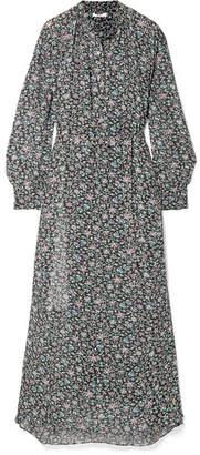 Etoile Isabel Marant Joly Printed Georgette Maxi Dress - Black