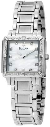 Bulova Women's Diamond Marker Quartz Bracelet Watch, 25mm