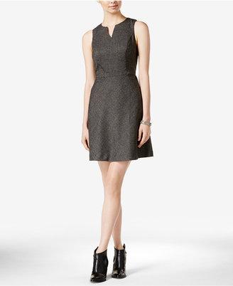 kensie Split-Neck Fit & Flare Dress $89 thestylecure.com
