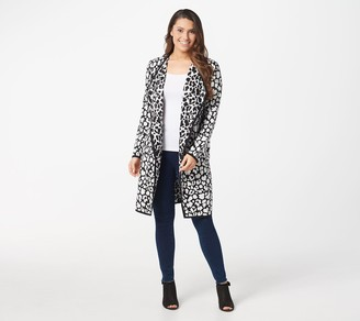 Vince Camuto Long-Sleeve Cheetah Print Open-Front Cardigan
