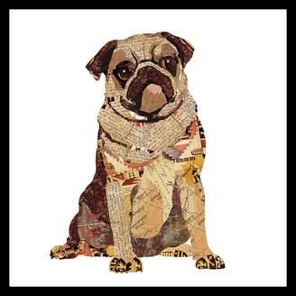 Soundslike HOME Sounds Like Home Collage Art Pug Puppy