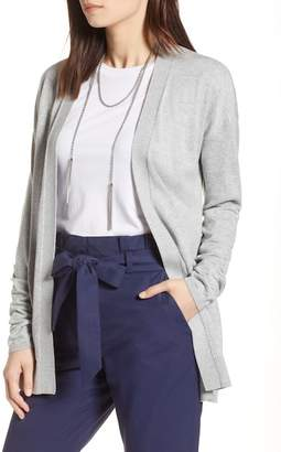 Halogen Ruched Long Sleeve Cardigan