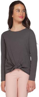 Dex Girl's Knotted-Hem Cotton-Blend Top