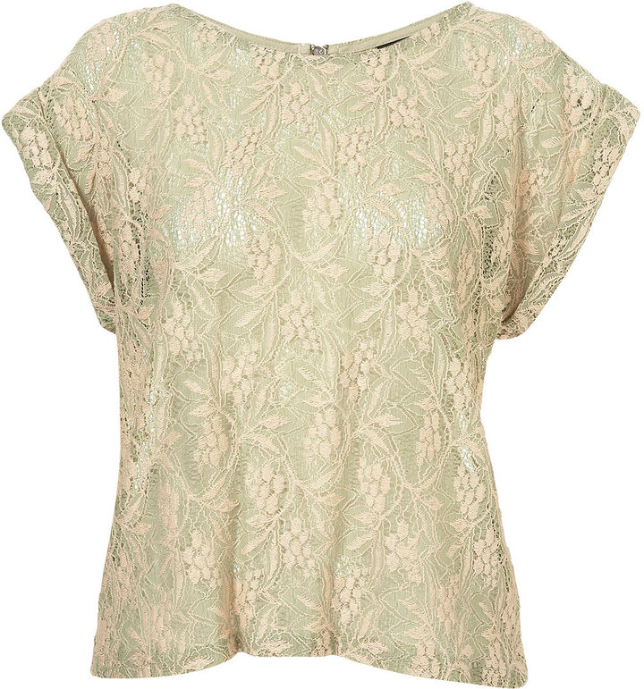Tall Short Sleeve Lace Tee