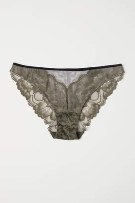 H&M Lace Bikini Briefs - Green