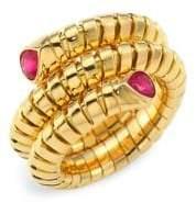 Marina B Trisola Ruby and 18K Yellow Gold Ring