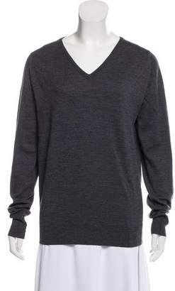 John Smedley V-Neck Wool Sweater