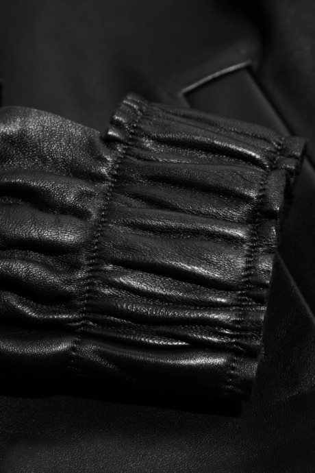 J.W.Anderson Cutout-cuff leather jacket