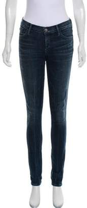Gold Sign Mid- Rise Jeans