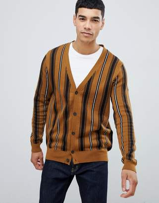New Look cardigan in brown stripe