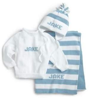 MJK Knits Baby's Three-Piece Personalized Knit Set