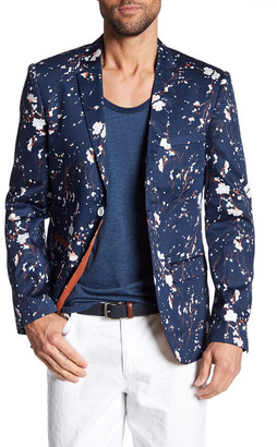 EDGE by WD.NY Blue Floral Two Button Notch Lapel Sport Coat $188 thestylecure.com