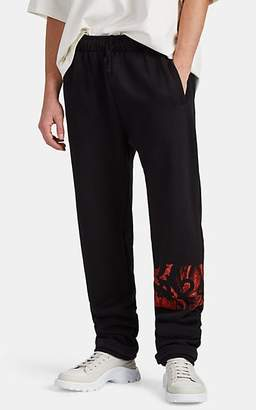 424 Men's Paint-Splatter-Logo Cotton Terry Jogger Pants - Black