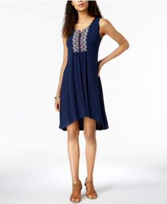 Style&Co. Style & Co Embroidered High-Low Dress, Created for Macy's