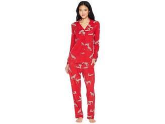 The Cat's Pajamas El Tigre Pima Knit Pajama Set