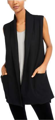 Eileen Fisher Open-Front Shawl-Collar Vest