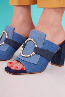 Jaggar FOOTWEAR LOGIC DENIM BLOCK HEEL denim