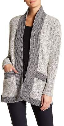 Blanc Noir Tweed Car Coat