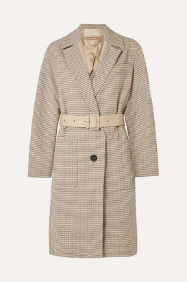 Vanessa Bruno Iambo Belted Cotton-tweed Coat - Cream