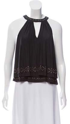 Ramy Brook Sleeveless Embroidered Top