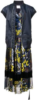 Sacai floral print jacket-dress